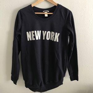 H&M Maternity New York Navy Sweatshirt